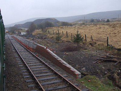 Partially complete Plarform No.2 at Furnace Sidings on 19.04.08.