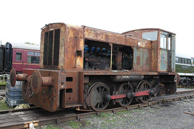 "Ruston Hornsby 0-6-0DM ""Trecatty"" on 27.09.09 - now scrapped."