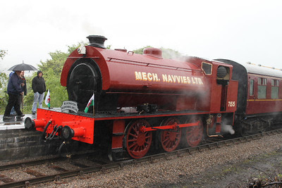 71515 - RSH Austerity 0-6-0ST - at opening of Blaenavon High Level extension on 29.05.10.