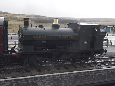 816  (aka 813) - Port Talbot 0-6-0ST - visiting Railway on 01.12.07.