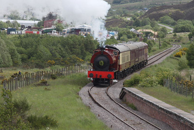 71515 - RSH Austerity 0-6-0ST -  en route to Whistle Stop Inn on 28.05.11