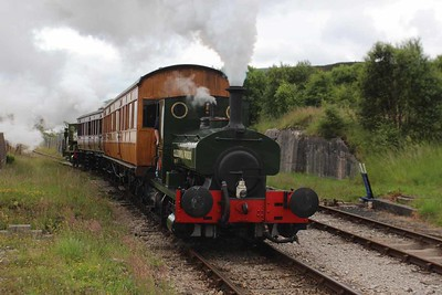"""1219 - Andrew Barclay 0-4-0ST  """"Caledonia Works""""  at Furnace Sidings on 26.06.16. (Rosyth No.1 behind)."""