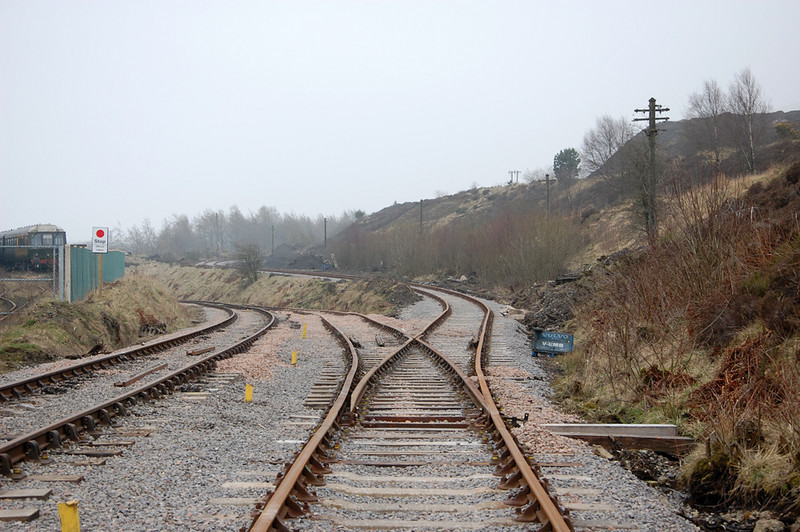 The Big Pit branch climbs away from the mainline.