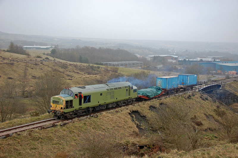 37216 brings the Cardiff - Blaenavon Freightliner service up to Furnace Sidings!