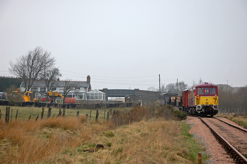 73128 brings a short engineers train down from Brynmawr and past the Whistle Inn (if only).