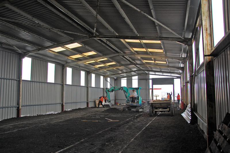 Tidying up inside the Top Shed Extension