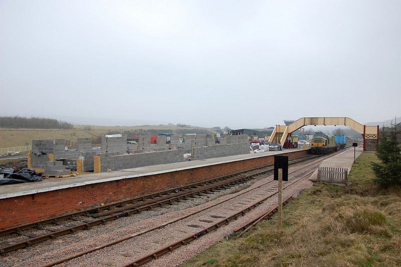 The new station building at Furnace Sidings takes shape