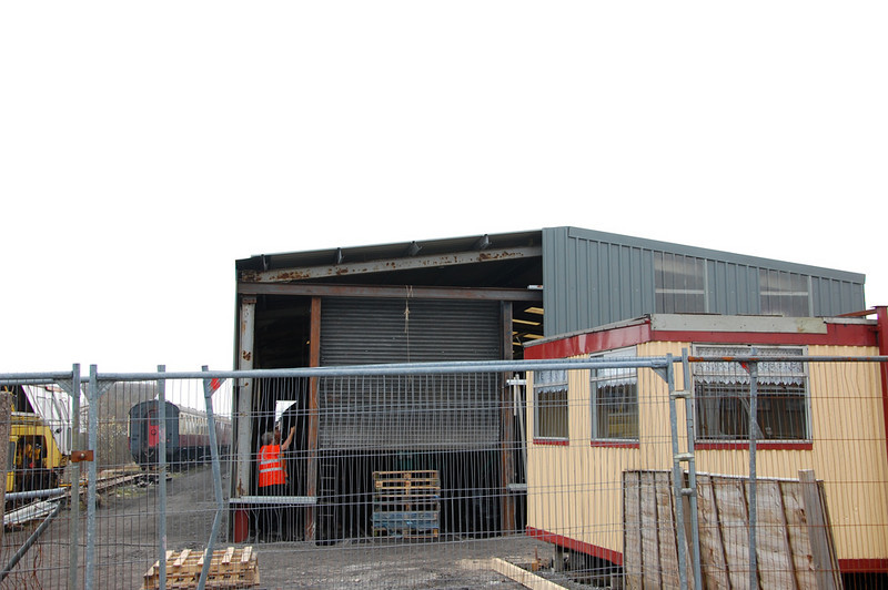 At Furnace Sidings the Top Shed extension nears completion