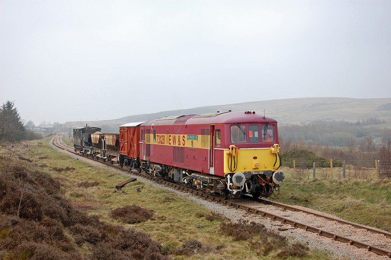 73128 and train on the approach to Furnace Sidings