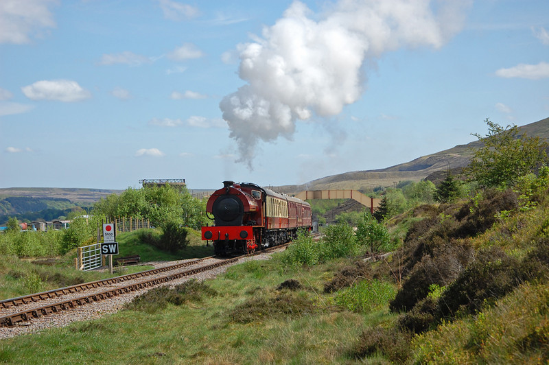 71515 makes a vigorous departure from Furnace Sidings