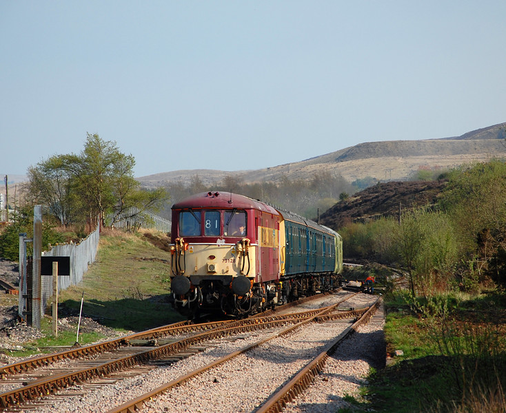 In glorious evening sun 73128 climbs into Furnace Sidings, No.19 having been dropped off.