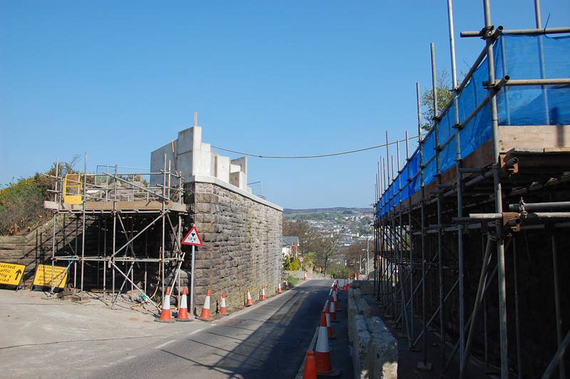 Varteg Road bridge looking down hill