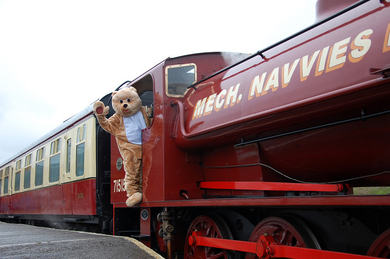 All aboard with Teddy