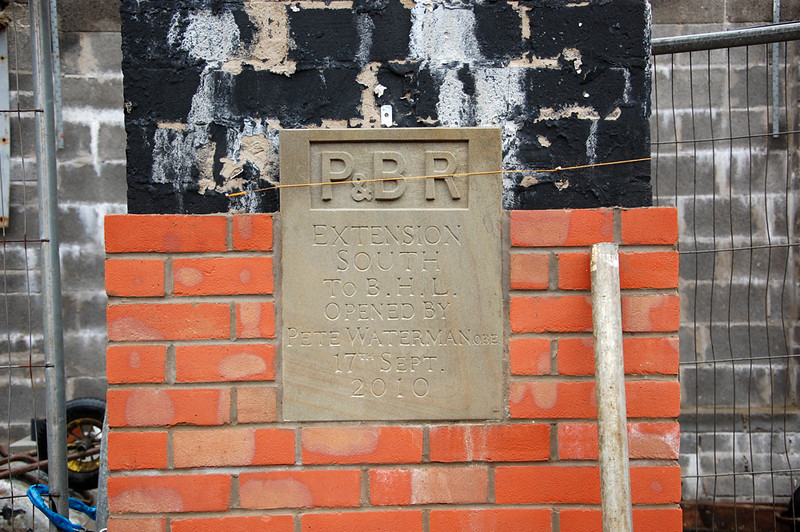 The plaque in place
