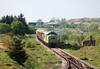 the view from the foot bridge as the train approaches Furnace Sidings