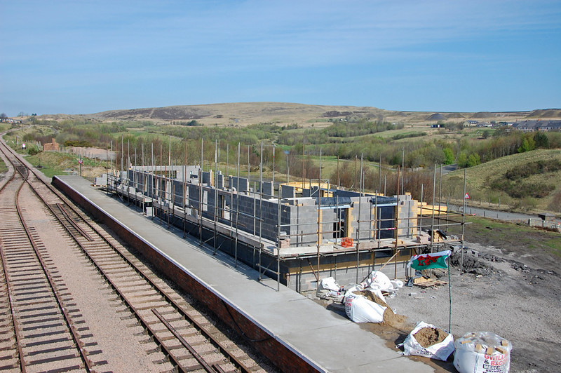 Furnace Sidings station building going up very quickly