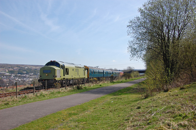 37216 brings an afternoon train through Tyre Mill