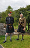 Trefor and Charles, Kilts 'r' us. Charles is wearing his original military uniform and it still fits!