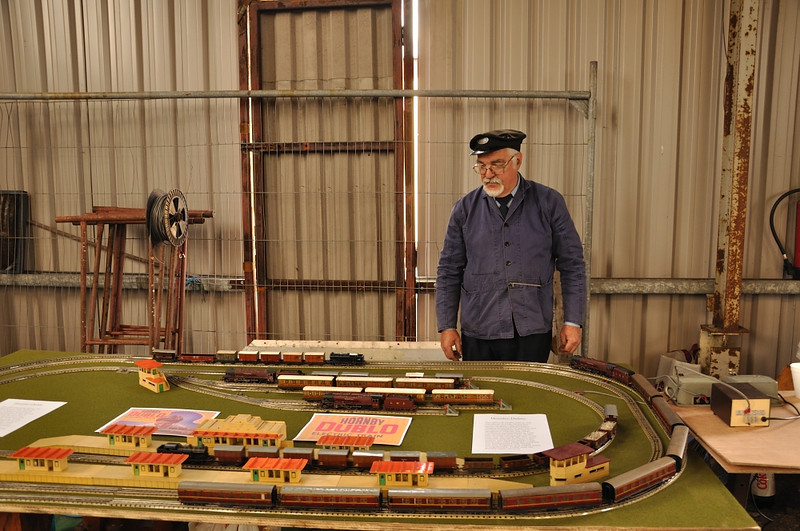 Arthur with his vintage trains, classic toys..sorry I mean collectables