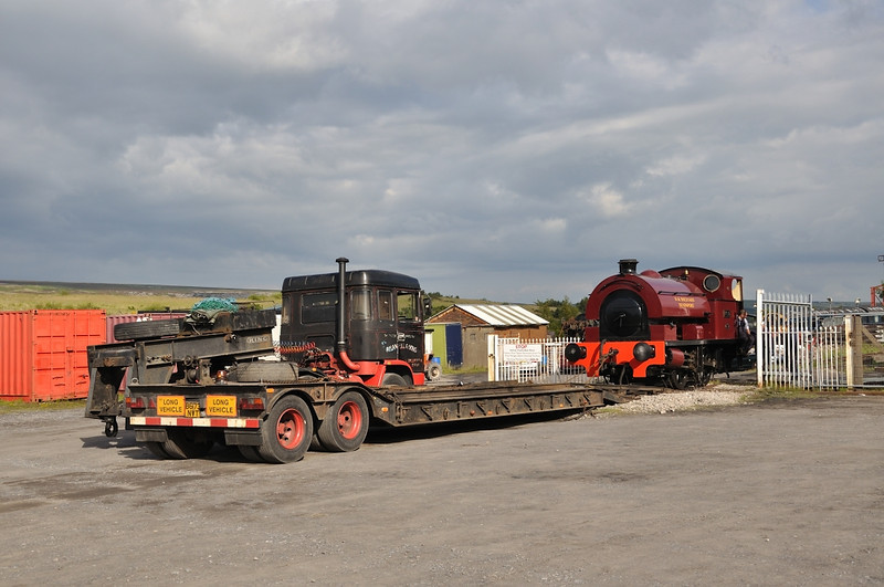 Her weekends work over, No.19 gets ready for her trip to the Foxfield railway