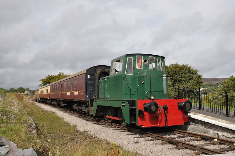 1387 at Blaenavon with the short rake of stock