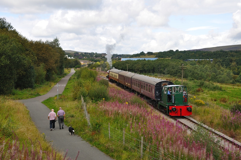 First train of the day heads for Blaenavon