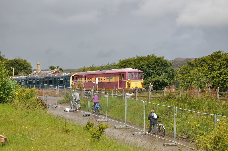 Rushing for the train at Blaenavon