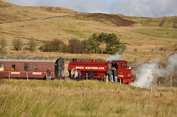 Steam trains are always popular