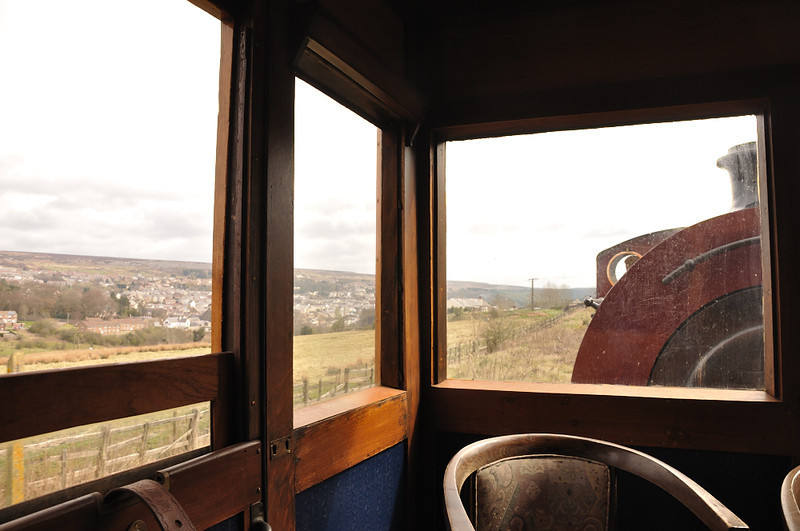 From a railway carriage