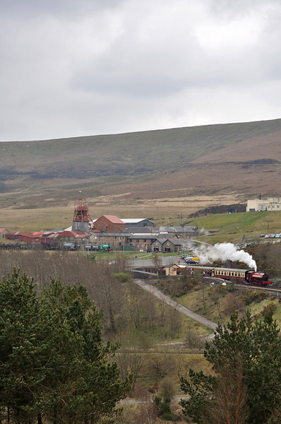 The view from the far side of the valley, with Big Pit halt and Big Pit in view