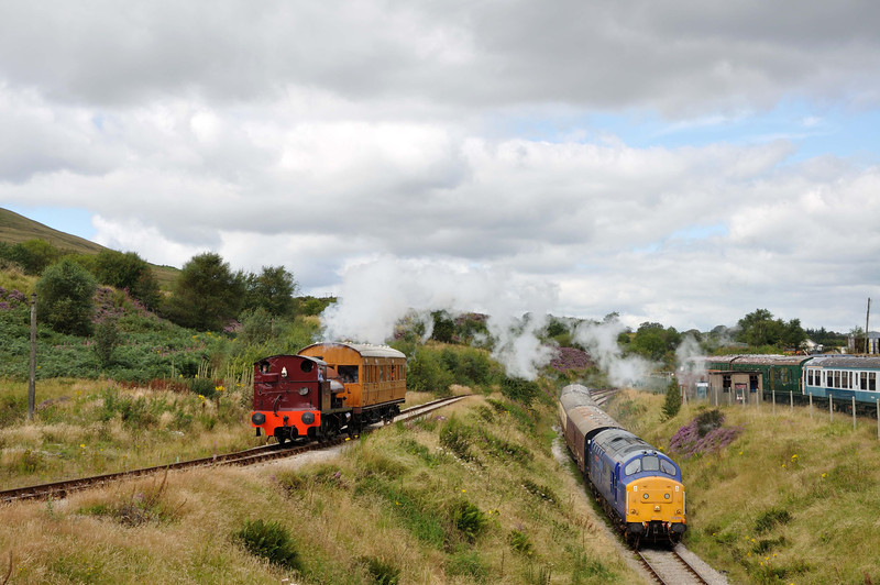 Just a cheeky play with photo shop, Big Pit train on the left, Blaenavon train on the right.