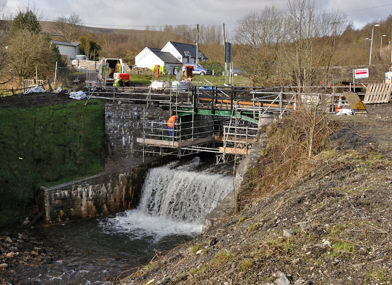 Aaron brutes bridge, back in place and fettled ready for reuse.