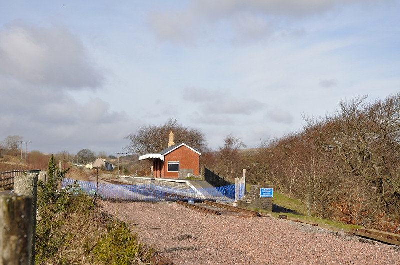 Blaenavon High Level from south of the foor crossing, sand drag and buffer stop have been removed