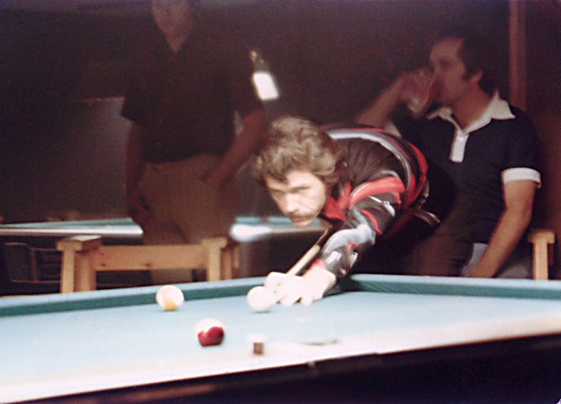 Larry Hubbart - aka The Iceman. That's Terry Bell in the background sipping a soft drink.