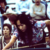 Cathy Miao shoots while Mary Kenniston watches. According to a couple of guests, Mary eventually won the tournament.