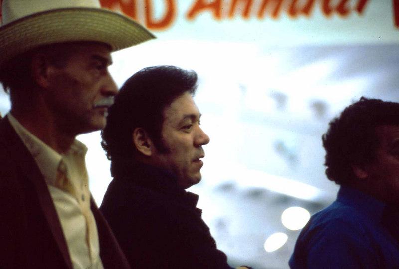 """Big Sergio"" Gandarilla. At far left, with the cowboy hat, is Charles ""Preacher"" Red Jones."