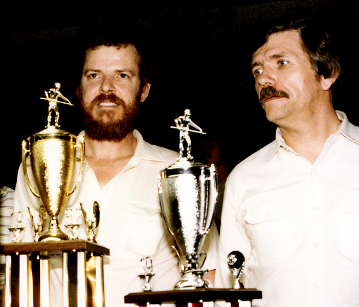 Winners! <br /> <br /> Reported in National Billiard News:<br /> 1. Buddy Hall, 2. Allen Hopkins, 3. Larry Hubbart, 4. Benny Conway, 5. Scott Kitto, 6. Paul Campbell<br /> <br /> Other players included Louie Roberts, Gene Catron, Nick Varner, Bryan Roberts, Bill Stigall, and Blaine Sell.