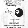"""X1 - Program - Front Cover of the program. Special thanks to Carl Neumeister for loaning us this program.<br /> <br /> The following information was provided by AZ Billiards poster JG-in-KY:<br /> <br /> """"That tournament (Clyde Childress) was actually held in Richmond, Kentucky In March of 1982. It was at a Honky Tonk club called the Maverick which was owned by Monroe Brock IIRC. Brock was a stakehorse and childhood friend of Clyde's. He later backed Earl Strickland and Buddy Hall among others. Gene Catron was """"The Glove"""". Paul Campbell was a road player from Minnesota (I think). This was the first major tournament I attended. I also remember that Nick Varner went two and out.<br /> <br /> Here is a list of some of the other players I wrote down that participated: Gary Spaeth, Joey Spaeth, Jimmy Mataya, David Howard, Ronnie Allen, Howard Vickery, Bobby Johnson (Richmond, Ky), Floyd Skeans, Jimmy Reid, Charlie Jones, Mike Massey, Terry Bell, Keith McCready, Jay Swanson, Hornbeck, Greenwell, Connors, Jimmy Hodges, Sid(?), Moughey, Clarence Frye, F. Sloane, Gary """"Bushwacker"""" Nolan, Geraldine Titcomb, J. Benderman and Terry Clark."""""""