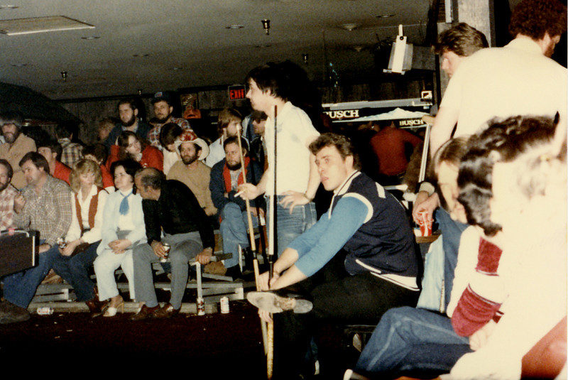 Jimmy Mataya seated, holding a cue. I believe that is the late Paulie Campbell standing with cue in the center of the photo.<br /> Reply With Quote