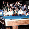 Butch Baker, a strong Cincinnati player, sitting in the front row, far left. Frank and Geraldine Titcomb just to Butch's left. (Thanks to Grady Mathews for identifying Frank and Geraldine.) That is Tommy Carrelli just to Geraldine's left. Pinocchio from AZ Billiards and I think that may be Truman Hogue in the blue shirt, top center of image.