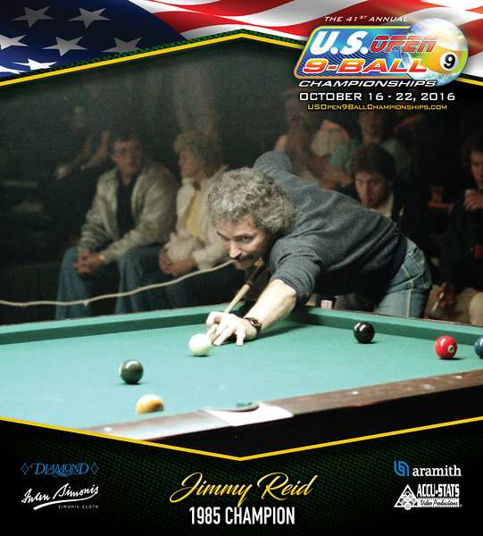 Jimmy Reid - photo used to promote U.S. 9-Ball Open in 2016
