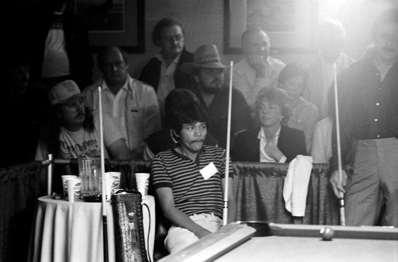 Efren Reyes sitting and Danny Diliberto standing.