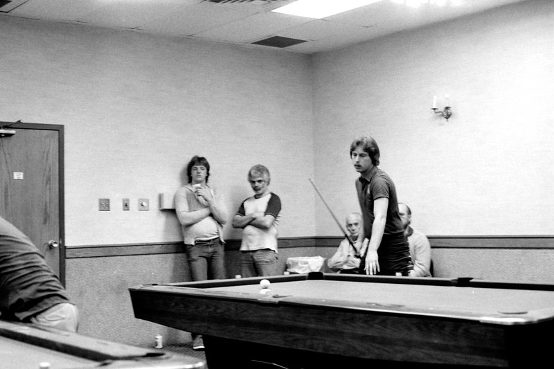 Earl Strickland playing a money match in the back room.