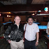 Efren Reyes and Mike Haines. Mike on the left, in case you didn't know. And by the way, Efren rarely looks at a camera taking a flash photo. He says it messes with his eyes.