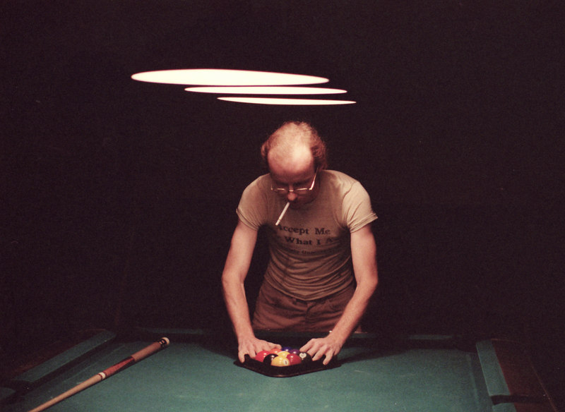 Unknown Pool Player with cigarette - original image