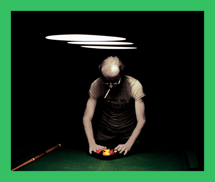 Unknown Pool Player with cigarette - our artistic rendering