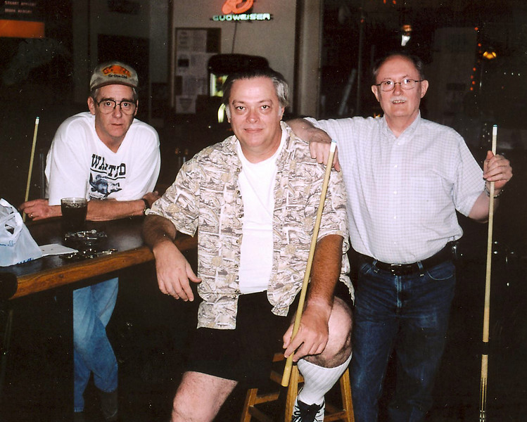 Mickey Stone at far left and Mike Haines on the right