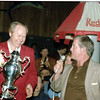 Red Walling with the trophy and Richard Black on the mike.