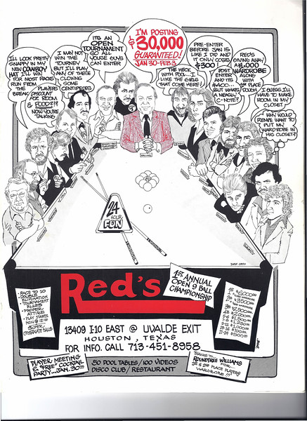I believe this program is from the first Red's Tournament in 1983 - Our thanks to Ben Hamilton for donating this image!