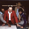 "Jack Breit - And you thought pool players weren't good at planning and thinking ahead! By the way, that's Edgar ""Shake & Bake"" White to Jack's right, Mike Massey  in the hat, and Sammy Jones holding the pill bottle."
